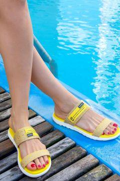 Pantoufles Fox Shoes Jaune(127842827)