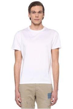 Eleventy Erkek Beyaz Dikiş Detaylı Basic T-shirt XL EU(108810059)
