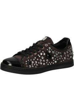 Chaussures Botticelli sneakers daim cuir verni strass AE306(115399442)