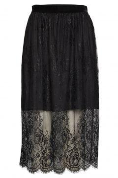 Skirt Knielanges Kleid Schwarz ROSEMUNDE(116642686)