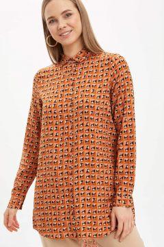 DeFacto Kadın Baskılı Gömlek Tunik(119057657)
