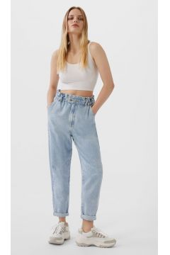 Baggy-Jeans mit Gummizug Denim(113908014)