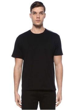 Givenchy Erkek Siyah Kolları Şerit Logolu Basic T-shirt S EU(125149498)