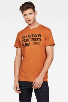 G-Star RAW Men Graphic 8 T-Shirt Brown(118171190)