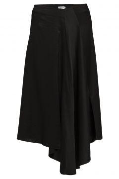 Drapey Satin Skirt Knielanges Kleid Schwarz FILIPPA K(108941581)