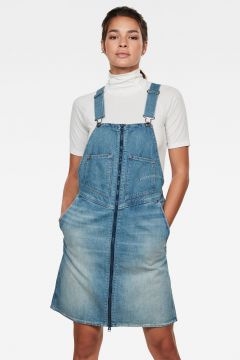 G-Star RAW Women Lintell Denim Overall Dress Medium blue(117927029)