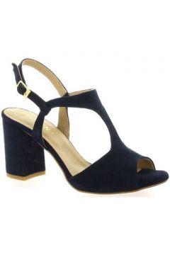 Sandales So Send Nu pieds cuir velours(127910103)