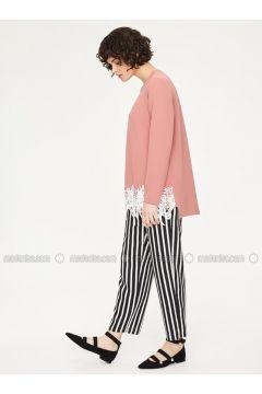 Black - White - Stripe - Pants - Minimal Moda(110331158)