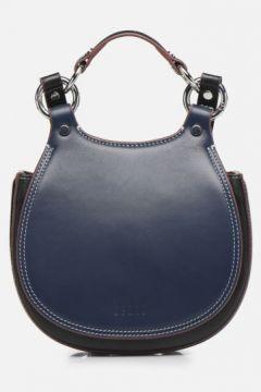 Behno - Tilda Mini Saddle Bag Nappa - Handtaschen / blau(116937532)