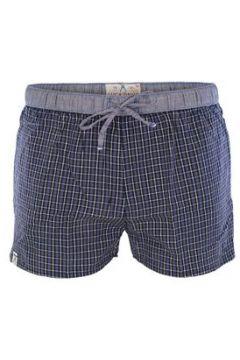 Luca David Pyjama-Shorts \'Olden Glory\' marine / schwarz / weiß(108192675)