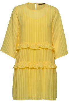 Ellora Kristelle Dress Bz Kurzes Kleid Gelb BRUUNS BAZAAR(109242968)