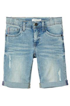 NAME IT Lange Slim Fit Jeansshorts Herren Blau(113668876)