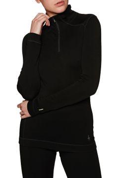 Smartwool NTS Mid 250 Zip Damen Funktionsunterwäsche Oberteil - Black(110372662)