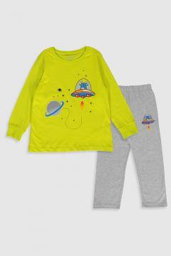 Çocuk Erkek Çocuk Baskılı Pamuklu Pijama Takımı(107922541)