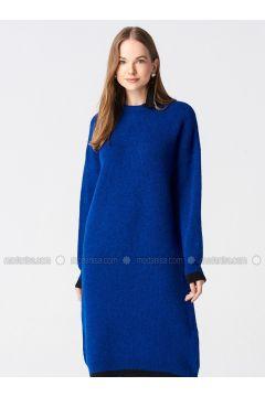 Black - Saxe - Crew neck - Unlined -- Dresses - Dilvin(110327589)