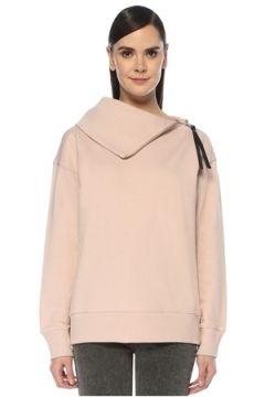 Allsaints Kadın Bella Pembe Yakası Fermuarlı Sweatshirt Altın Rengi S EU(107373558)
