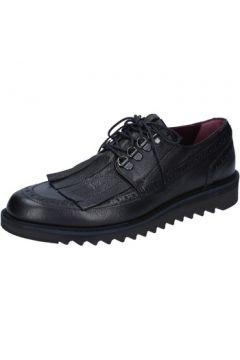 Chaussures Roberto Botticelli élégantes noir cuir BY585(88524159)