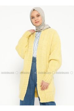 Yellow - Acrylic -- Cardigan - Loreen By Puane(110319523)
