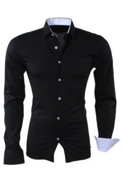 Chemise Kc 1981 Chemise fashion homme Chemise 1122 noir et Blanc(88545771)