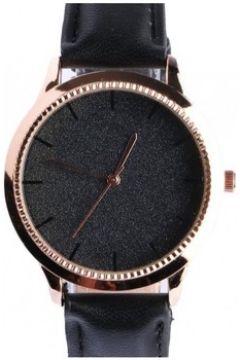 Montre Michael John Montre femme doree strass noir bracelet cuir Staly(88628758)