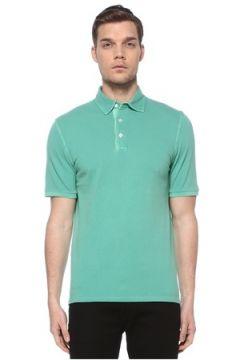 Fedeli Erkek Yeşil Polo Yaka T-shirt 50 IT(116665618)