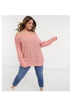 Yours - Maglione rosa con scollo alla Bardot(124783748)