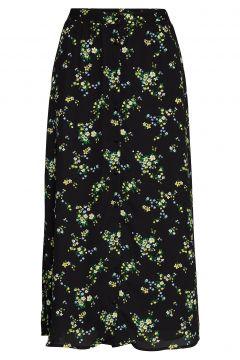 Japan Exclusive Floral Midi Skirt Knielanges Kleid Schwarz BANANA REPUBLIC(114164342)