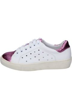 Chaussures Francescomilano sneakers blanc rose cuir synthétique BS78(115443038)