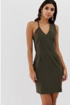 Vesper - Figurbetontes Kleid mit abstraktem Träger - Grün(86134907)