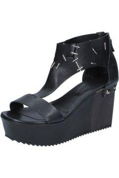 Sandales Vic sandales noir cuir BZ553(88470321)