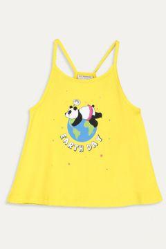 Çocuk Kız Çocuk Baskılı Pamuklu Atlet(113143572)