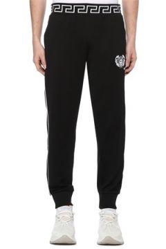 Versace Erkek Siyah Beli Barok Desenli Jogger Eşofman Altı 6 US(108933837)