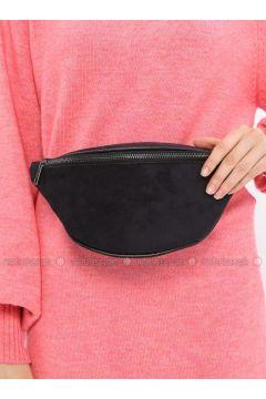 Black - Clutch - Bum Bag - MOON(110332591)