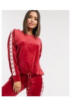 Hunkemoller - Maglione in velour rosso con cuore laterale(120379897)
