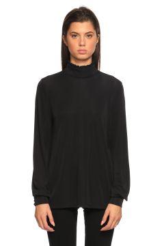 Juicy Couture-Juicy Couture Boğazlı Siyah Bluz(115706179)