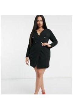 Club L London Plus - Vestito blazer doppiopetto nero(122783871)