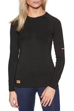Top Seconde Peau Femme Mons Royale Mintaro Long Sleeve - Black(111332258)