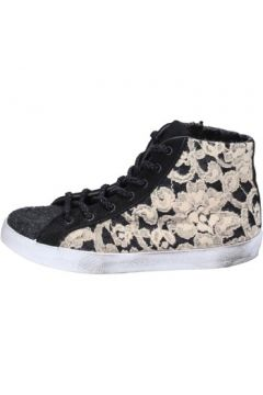 Chaussures 2 Stars sneakers beige noir textile BX529(115442576)