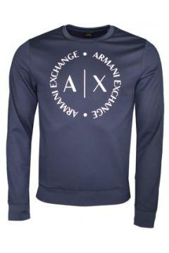 Sweat-shirt Armani Sweat col rond Exchange bleu marine pour homme(115506528)