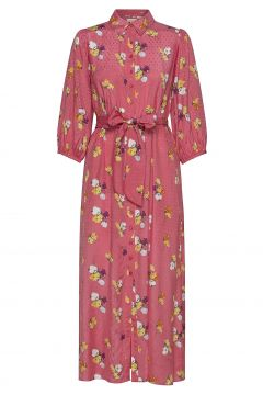Delicate Shirt Dress Maxikleid Partykleid Pink BY TI MO(114164527)