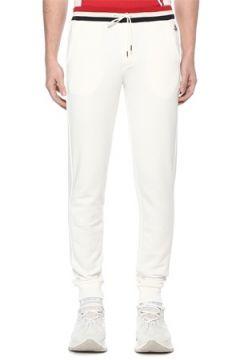Moncler Erkek Beyaz Beli Kordonlu Jogger Eşofman Altı M EU(108010421)
