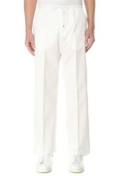 Valentino Erkek Beyaz Beli Kordonlu Bol Paça Pantolon 48 IT(127364735)