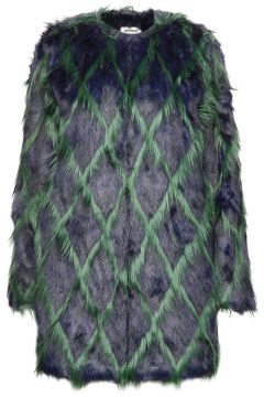 Louisy Coat Fake Fur Arlequin Patern Outerwear Faux Fur Grün ZADIG & VOLTAIRE(114152680)
