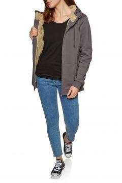 SWELL Holborn Damen Kapuzenpullover mit Reißverschluss - Charcoal(100260458)