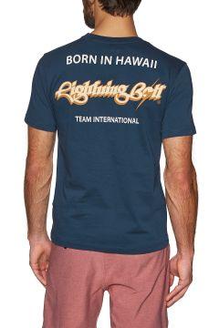 Lightning Bolt Born In Hawaii Kurzarm-T-Shirt - Dress Blue(115733469)