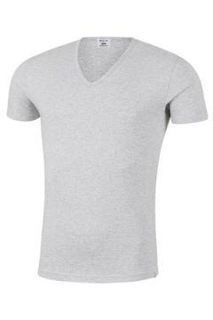 T-shirt Replay T-shirt homme col V en coton gris(127863784)