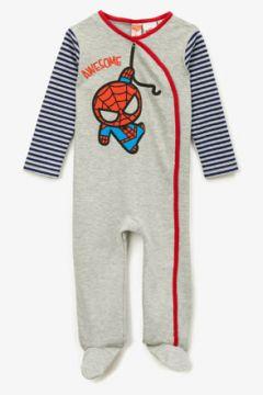 Koton Erkek Çocuk Spiderman Lisansli Baskili Çizgili Uzun Kollu Tulum(124434437)