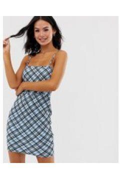Heartbreak - Minikleid mit eckigem Ausschnitt und Gitterkaros - Mehrfarbig(93618837)