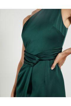 One Shoulder Fold Detail Midi Dress(123333727)