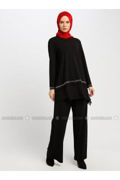 Black - Unlined - Suit - Armine(110337389)